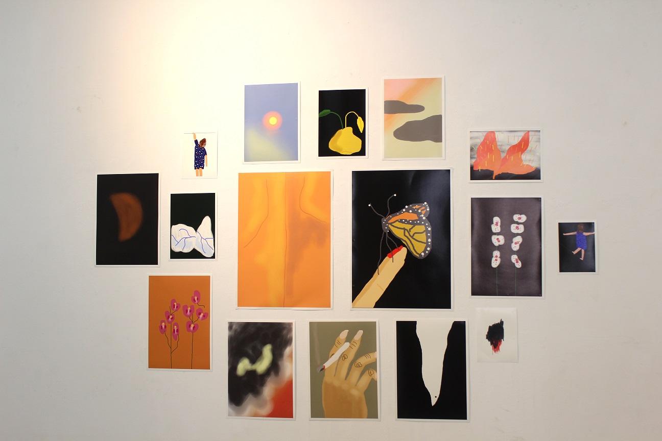 ציוריה של אילה נצר מתוך התערוכה
